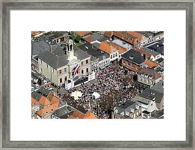 Harderwijk Market, Gelderland Framed Print by Bram van de Biezen