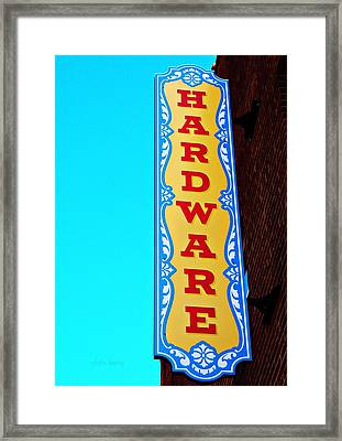 Hardware Store Framed Print by Chris Berry