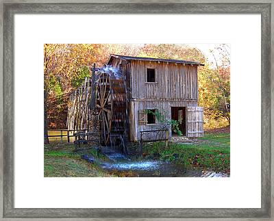 Hardy Mill In Autumn Framed Print by Ed Cooper