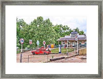 Hardy Station Framed Print by Audreen Gieger-Hawkins