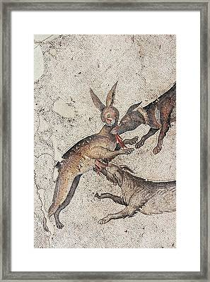 Hare Coursing Mozaic Framed Print by David Parker
