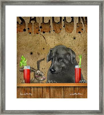 Hare Of The Dog... Framed Print by Will Bullas