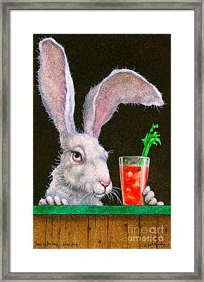 Hare Of The Dog...sans Dog... Framed Print by Will Bullas