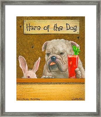 Hare Of The Dog...the Bulldog... Framed Print by Will Bullas