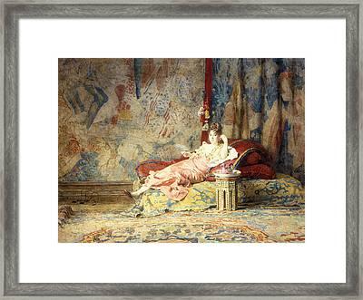 Harem Beauty Framed Print by Alexandre Louis Leloir