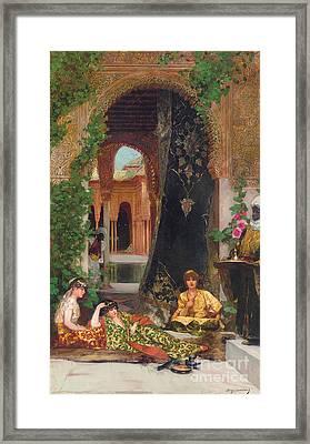 Harem Women Framed Print by Jean Joseph Benjamin Constant