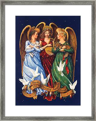 Hark The Herald Angels Sing Framed Print by Lynn Bywaters
