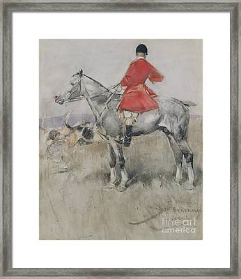 Hark To Statesman Framed Print by Joseph Crawhall