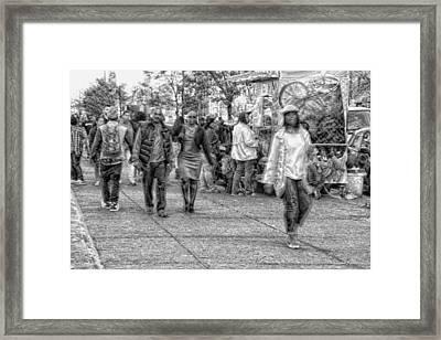 Harlem Flow Framed Print by Leon Pinkney