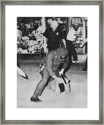 Harlem Race Riots Framed Print by Underwood Archives