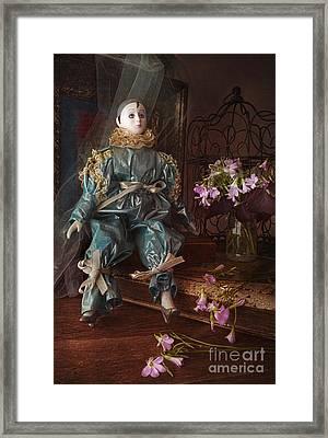Pierrot Framed Print by Elena Nosyreva