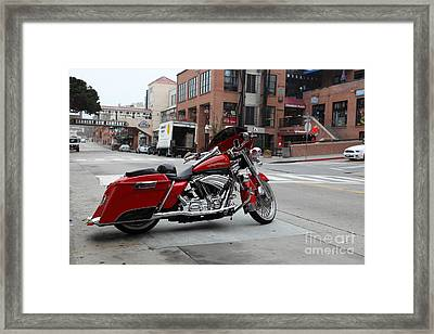 Harley Davidson At Monterey Cannery Row California 5d24765 Framed Print by Wingsdomain Art and Photography