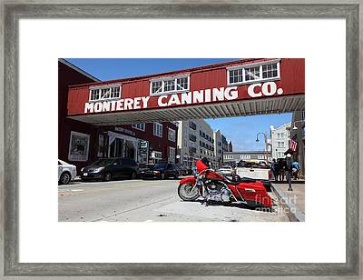Harley Davidson At Monterey Cannery Row California 5d25024 Framed Print by Wingsdomain Art and Photography