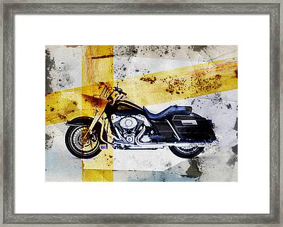 Harley Davidson Framed Print by David Ridley
