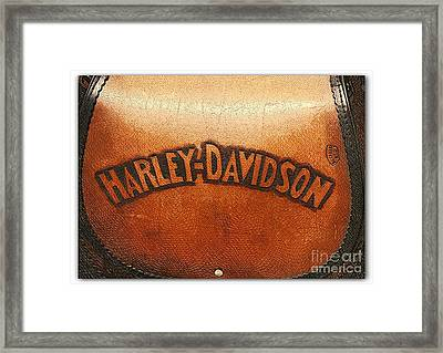 Harley Davidson Leather Tool Bag  Framed Print by Stefano Senise