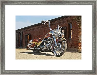 Harley Davidson Outlaw Bagger I Framed Print by Dave Koontz