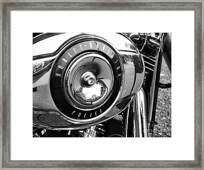 Harley Davidson Police Motorcycle Framed Print by Paul Ward