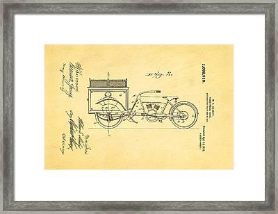 Harley Davidson Three Wheel Truck 2 Patent Art 1914 Framed Print by Ian Monk
