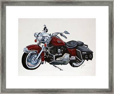 Harley Road King Framed Print by Janet Felts