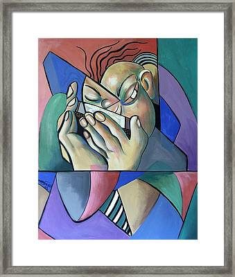 Harmonia Man Framed Print by Anthony Falbo
