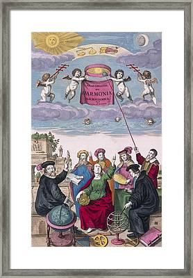 Harmonica Macrocosmica (1708) Framed Print by Science Photo Library