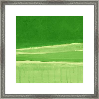 Harmony In Green Framed Print by Linda Woods
