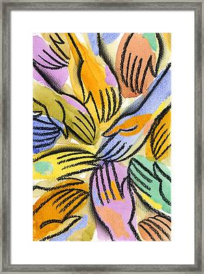 Multi-ethnic Harmony Framed Print by Leon Zernitsky