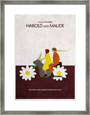 Harold And Maude Framed Print by Ayse Deniz