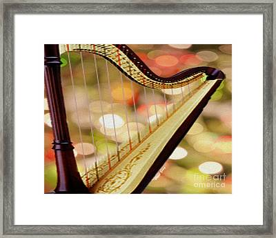 Harp Framed Print by Cheryl Young