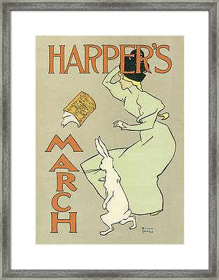 Harpers March 1894 Framed Print by Edward Penfield