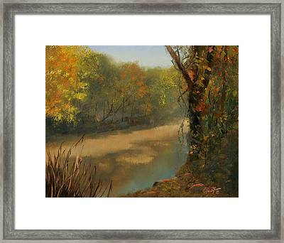 Harpeth At Carnton Framed Print by Tommy Thompson