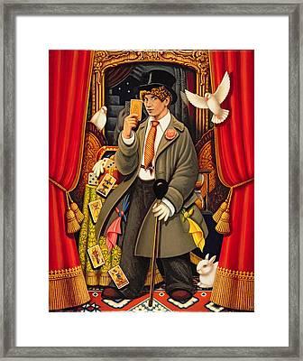 Harpo, 2010 Oils & Tempera On Panel Framed Print by Frances Broomfield