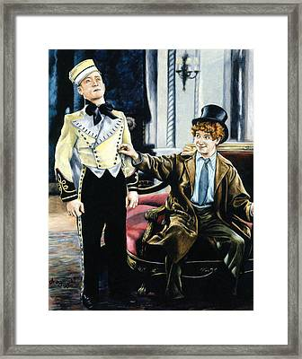 Harpo In The Cocoanuts Framed Print by Edward Draganski