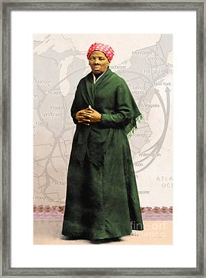 Harriet Tubman The Underground Railroad 20140210v2 Framed Print by Wingsdomain Art and Photography