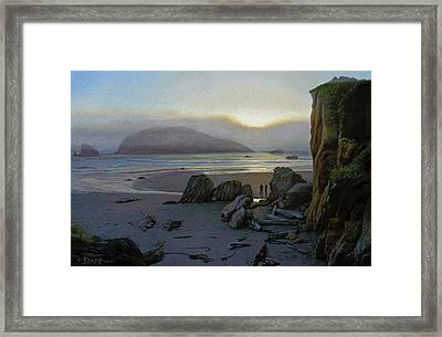 Harris Beach Rendezvous Framed Print by Paul Krapf