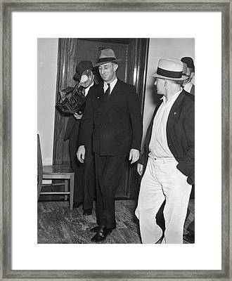 Harry Bridges Signs Pact Framed Print by Underwood Archives