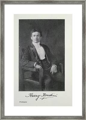 Harry Houdini Framed Print by British Library