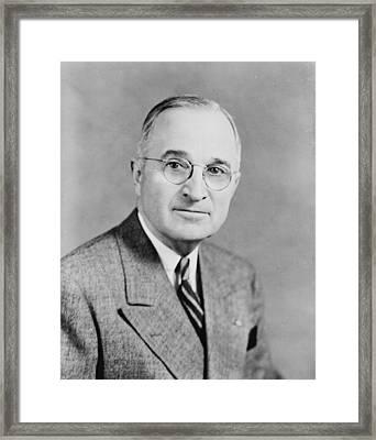 Harry S Truman Framed Print by Georgia Fowler