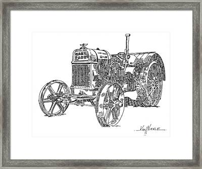 Hart-parr 12-24 E Framed Print by Ken Nickle