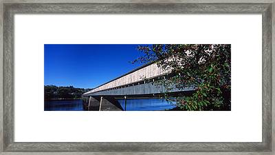 Hartland Bridge, Worlds Longest Covered Framed Print by Panoramic Images