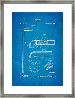 Hartman Confetti Gun Patent Art 1914 Blueprint Framed Print by Ian Monk