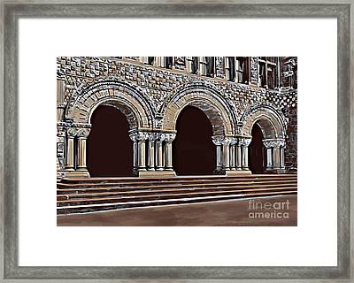 Harvard  Entrance To Law School   C1900 Framed Print by Andrzej Szczerski