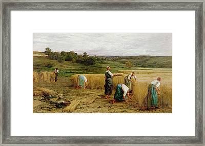 Harvest Framed Print by Leon Augustin Lhermitte