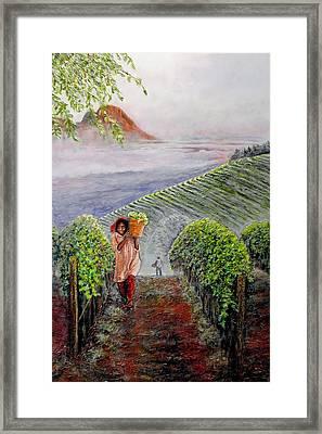 Harvest At Dawn Framed Print by Michael Durst