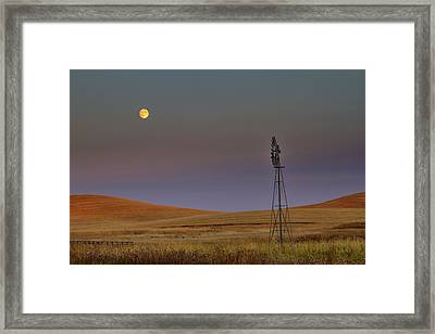 Harvest Moon Framed Print by Mark Kiver
