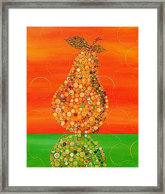 Harvest Pear Framed Print by Wendy Provins
