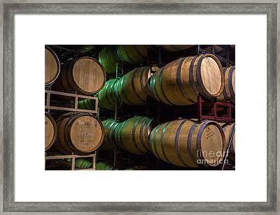 Harvest Resting Wine Barrels Framed Print by Iris Richardson
