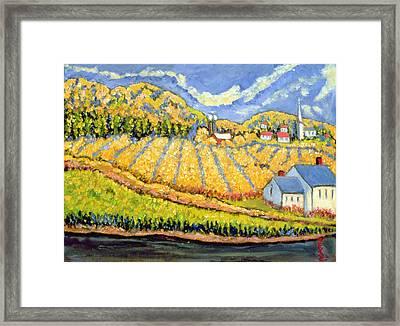 Harvest St Germain Quebec Framed Print by Patricia Eyre