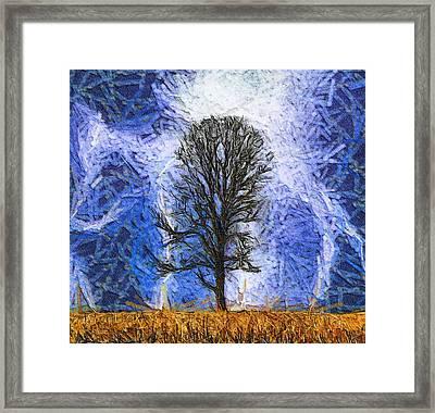 Harvest Storm Framed Print by Dan Sproul