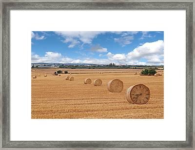 Harvest Time Framed Print by Gill Billington